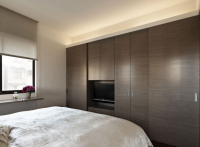 卧室衣柜装修  气质现代风