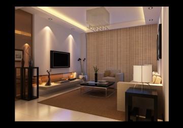 一室一厅田园风格装修效果图