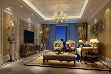 三室一厅欧式风格装修效果图