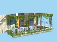 二楼洋房装修_阳台花架类型的选择及搭建